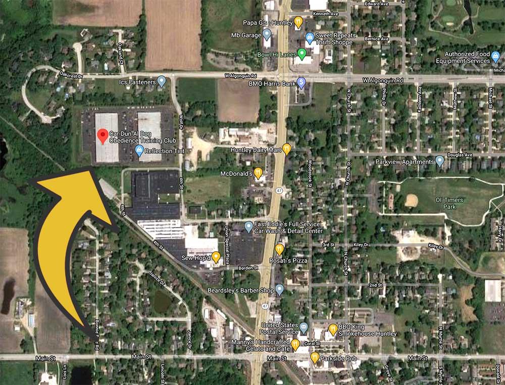 Car-Dun-Al-Dog Obedience Training Club - Location Map - Huntley, Illinois